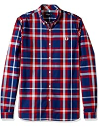 Fred Perry Bold Check Shirt in England Red