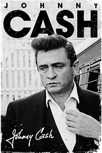 Poster di Johnny Cash, I Walk The Line, con autografo (91 x 61 cm)