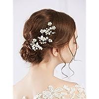 Fxmimior nuziale vintage wedding party oro cristallo fiore strass forcine capelli  accessori donna copricapo oro ( 6e7225fae559