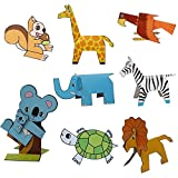 #7: Livzing Kids 3D Paper Puzzle Book Set Model Craft Educational Game Toys For Children Learning – 2 design pack – Vehicles And Animals