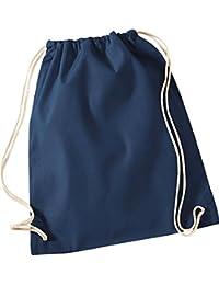 Westford Mill Schule Tasche Aufbewahrung Reisetasche Rucksack Baumwolle Kordelzug Gymsac