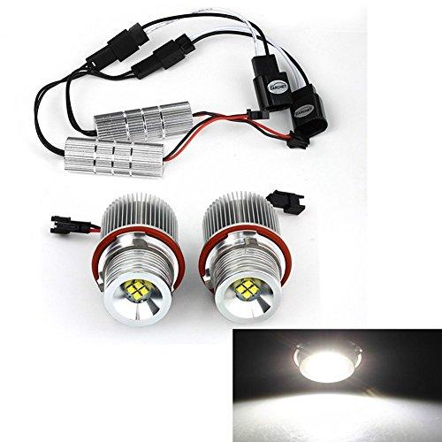 KATUR 2pcs 20W Xenon White 6500-7000K Car Angel Eyes Lights CREE XT-E 4 LED Angel Eye Light Bulb