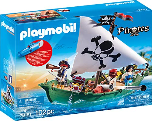Playmobil 70151 Pirates Barco Pirata, Multicolor