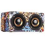 Drahtlose Bluetooth Lautsprecher Karte Tragbare Mini Lautsprecher Tragbare Stereo Musik Lautsprecher Freisprecheinrichtung Subwoofer Wireless Stereo Sound,Graffiti