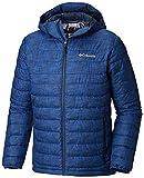Columbia Chaqueta Impermeable con Capucha para Hombre, Powder Lite Hooded Jacket, (Azul Crosshatch Print), Talla M