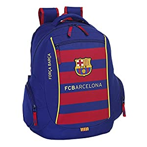 safta FC Barcelona Mochila para Ordenador, 15,6″- 32 x 44 cm, Color Azul Marino