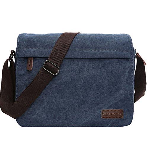 Leinwand Messenger Bag Umhängetasche Laptop Tasche Computer Tasche Umhängetasche aus Segeltuch Tasche Arbeiten Tasche 14 Zoll Umhängetasche für Männer und Frauen by SUPA MODERN (Große Tasche Leder Kleidungsstück)