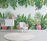 HONGYUANZHANG Nordische Minimalistische Pflanze Tapete Des Foto-3D Künstlerische Landschafts-Fernsehhintergrund-Tapete,140Inch (H) X 172Inch (W)