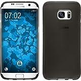 Coque en Silicone pour Samsung Galaxy S7 Edge - transparent noir - Cover PhoneNatic Cubierta Case