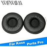 WEWOM 2 hochwertige Ersatz Ohrpolster für Koss Porta Pro (PP) und Samsung SBH500 Headset PU Leder