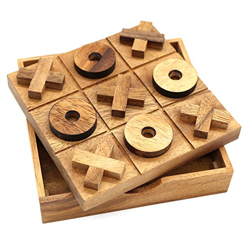 Tic Tac Toe Wooden Family Game - Plastic Free