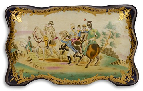 Casa Padrino Jugendstil Porzellan Schmuckschatulle Reiter Mehrfarbig 33,8 x 21,2 x H. 14,1 cm - Deko...