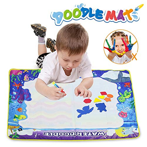 ZMH Wiederverwendbare Magic Water Coloring Doodle Board mit 4 Magic Pen Paint Eva Briefmarken Spielzeug Wasser Zeichnung Buch Geburtstagsgeschenk -
