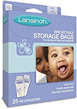 Lansinoh breastmilk Storage Bags, de 25 Count Boxes (Pack of 3) Size: Pack of 3