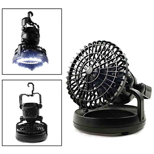 Mypace Fan Mini-Ventilator Mit Deckenventilator Wandern im Freien Laterne 2in1 tragbare 18 LED Zelt Camping Licht - Fernbedienung Laterne