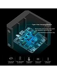 RONDAA Caja de Carga, Carga rápida Uno para Tres Cargadores Tipo de Almacenamiento Caja de Carga para dji OSMO Action Batería de Litio para cámara Deportiva