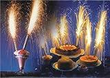 Eis Torten Fontäne Hochzeit Büfett Tisch Feuerwerk