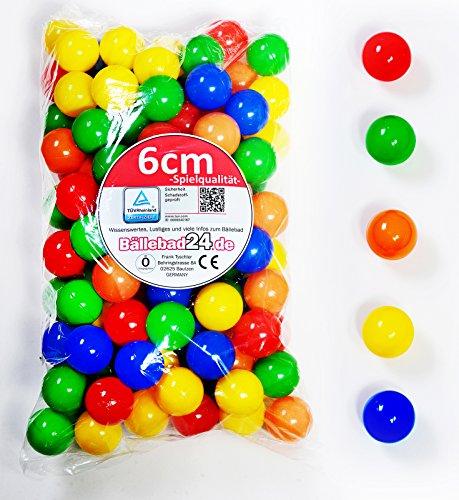 300 Stück 6cm Bälle für Kinder Bällebad Babybälle Plastikbälle ohne gefähliche Weichmacher (TÜV Test Report vom November / 2012) - Kunden-id-nummer