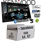 Audi A4 B7 Bose Concert - Kenwood DDX4017DAB - 2DIN Bluetooth | DAB+ Digitalradio | DVD | USB | CD | MP3 Autoradio - Einbauset