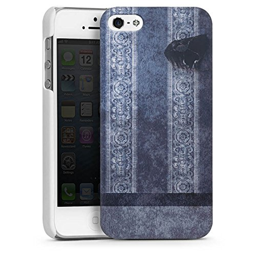 Apple iPhone 5s Housse étui coque protection Bandes Papier peint Motif CasDur blanc