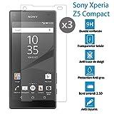 Sony Xperia Z5 Compact - [Lot de 3] Véritable vitre de protection écran en Verre trempé ultra résistante - Protection écran …