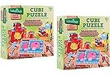 Globo Juguetes 3784112,5x 12,5x 4,5cm 'Legnoland' de madera Puzzle Cube (Juego de 9)