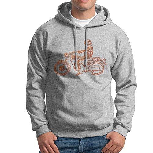 Mens Riding A Motorcycle Vector Cool Long Sleeve T-Shirt -