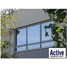 Láminas reflectantes para ventanas, control solar y de privacidad, una cara de espejo, 76 cm x 1 m, 10 m, color plateado, plata, 76 cm x 3 m