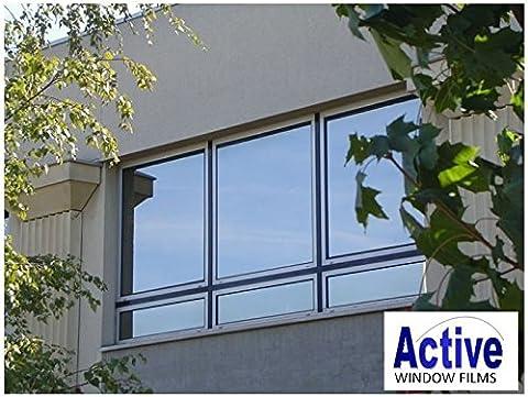 Silver Reflective Window Film (Solar Control & Privacy Tint - One Way Mirror / Mirrored Glass) (76cm x 2 metre) (76cm x 1 metre - 10