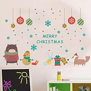 LQZ Fensterbild Fenstertattoo Festersticker Fensteraufkleber Fensterdeko  Schaufenster Bilder Sticker Weihnachten Für Kinder