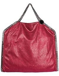 Stella McCartney Falabella Fold Over bolso de mano mujer rosso
