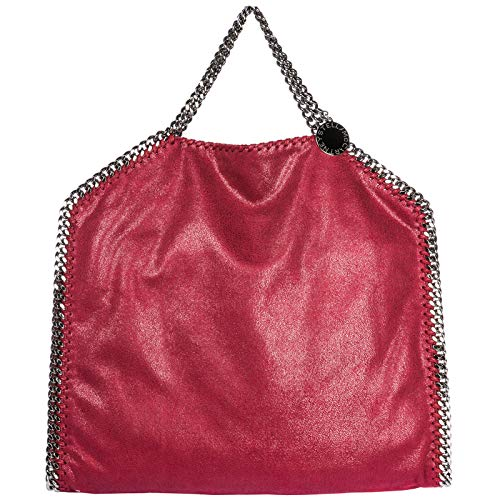 Stella McCartney borsa a mano falabella fold over donna rosso