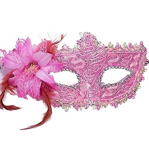 Masque Pour Prom - YAZILIND Sexy style en dentelle Strass bouclier