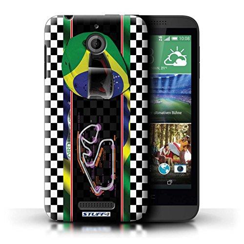Kobalt® Imprimé Etui / Coque pour HTC Desire 510 / Hongrie/Budapest conception / Série F1 Piste Drapeau Brésil/SãoPaulo
