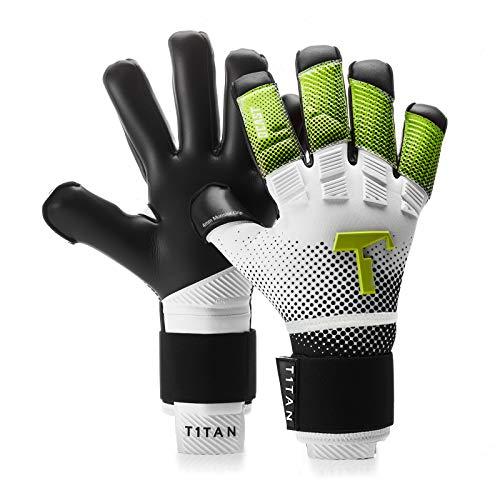 T1TAN Toxic Beast Torwarthandschuhe mit Fingerschutz, Tormannhandschuhe Herren & Erwachsene - 4mm Monster Grip - Gr. 10