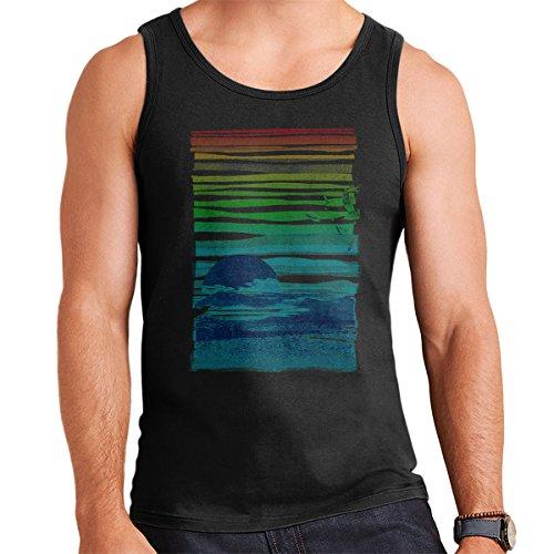 Sea Landscape Men's Vest Black