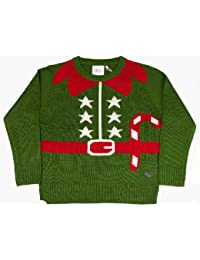 Authentic Crazy Granny Christmas Xmas Elf Outfit Wool Knitwear Jumper