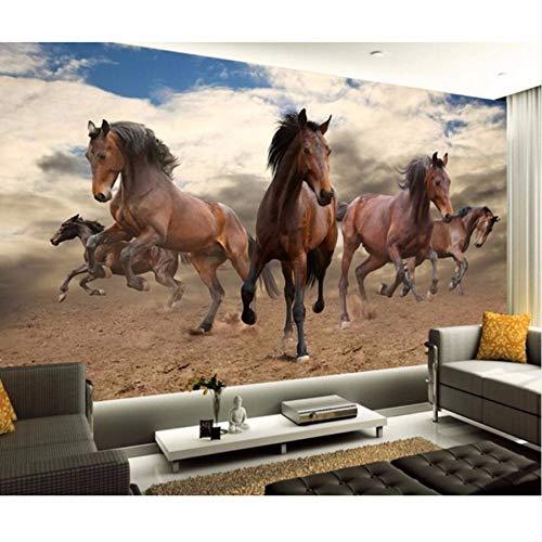 Pmhhc Papier Peint Personnalisé Accueil Décoratif Mural 3D Stéréo Pioneer Pepsi Horse Frame Tv Papier Peint Murale 3D Papier Peint-450X300Cm
