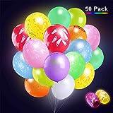 V-Light 40 pacchetti palloncini luminosi a colori misti con nastro, luci colorate luminose a LED,illuminazione dura 4-12 ore,grande per feste e celebrazioni (colori assortiti)