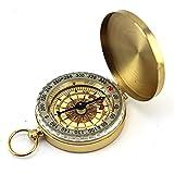 RotSale® 1x Antik Golden Kompass Klassisch Taschenuhr Stil mit Metall Deckel und Gehäuse