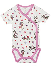 Sense Organics - Body Bébé fille - S/S Wrap Bodysuit