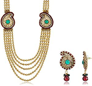 Ava Traditional Jewellery Set for Women (Gold) (S-VS-029)