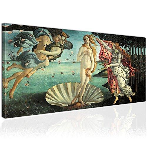 XXL Wandbild, Leinwandbild 100x50cm, die Geburt der Venus, Göttin der Liebe und Schönheit,...