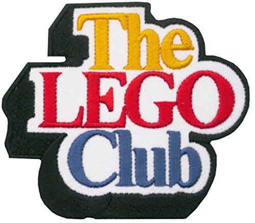 LEGO Club schwarz Bordüre bestickt abzeichen Patch Aufnäher oder zum Aufbügeln 8cm x 7cm