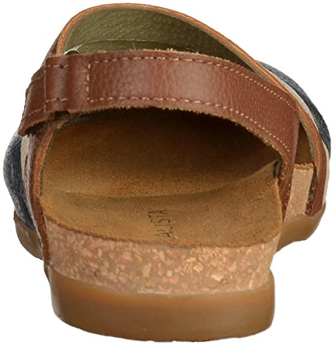 El Naturalista Womens Zumaia NF45 Leather Sandals Ocean Mixed