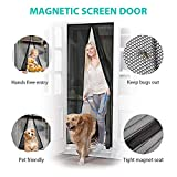 BamTyo Magnetic Fly Screen Mesh Door, Heavy Duty Mesh Curtain with Full Frame Adhesive Hook&Loop FITS Door Size up to 100cm(W) x 210cm(H) Max