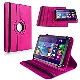 NAUC Tablet Tasche f Huawei Mediapad X2 Hülle Schutzhülle Cover Schutz Case 360° Bag, Farben:Pink