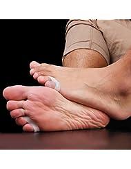 3 paires de pieds Gel Silicone Toe Separator Petit doigt Protecteur Hallux valgus oignon Ajusteur