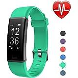 LETSCOM Fitness Armband mit Pulsmesser Fitness Tracker wasserdicht Aktivitätstracker Armbanduhr mit Schrittzähler Pedometer Kalorienzähler Smart Armband für Kinder Damen und Herren MEHRWEG