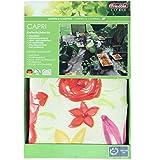 Capri 25872Friedola Tischdecke Garten abwaschbar OVAL Vinyl 130x 180cm